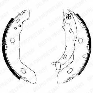 Комплект тормозных колодок для MERCEDES A(W168) <b>DELPHI LS1841</b> - изображение