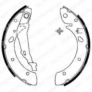 Комплект тормозных колодок для TOYOTA AVENSIS(#T22#) <b>DELPHI LS1843</b> - изображение