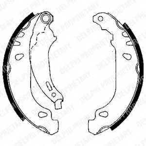 Комплект тормозных колодок для RENAULT CLIO(BB0/1/2#, CB0/1/2#, SB0/1/2#), LOGAN(KS#, LS#), SANDERO/STEPWAY, THALIA(LB0/1/2#) <b>DELPHI LS1844</b> - изображение