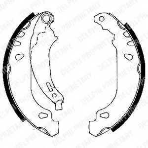 Комплект тормозных колодок DELPHI LS1848 - изображение