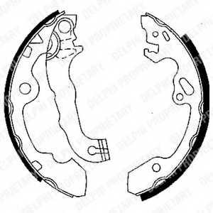 Комплект тормозных колодок DELPHI LS1850 - изображение