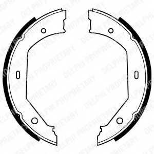 Комплект колодок стояночной тормозной системы DELPHI LS1857 - изображение