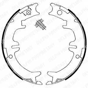 Комплект колодок стояночной тормозной системы DELPHI LS1892 - изображение