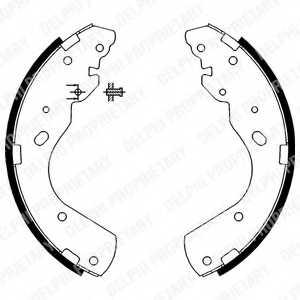 Комплект тормозных колодок для FORD RANGER(EQ,ER,ES,ET) / MAZDA B-SERIE(UN), BT-50(CD,UN) <b>DELPHI LS1897</b> - изображение