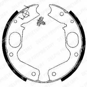 Комплект колодок стояночной тормозной системы DELPHI LS1898 - изображение