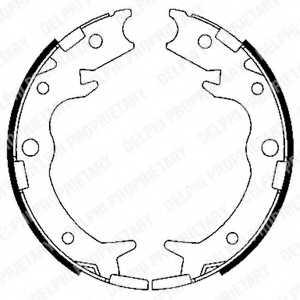 Комплект колодок стояночной тормозной системы DELPHI LS1900 - изображение