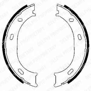 Комплект колодок стояночной тормозной системы DELPHI LS1905 - изображение