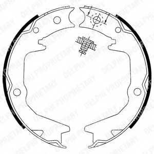 Комплект колодок стояночной тормозной системы DELPHI LS1913 - изображение