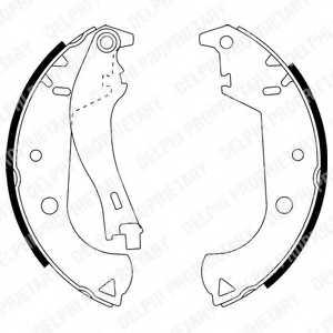 Комплект тормозных колодок для FIAT DOBLO(119,223) <b>DELPHI LS1916</b> - изображение