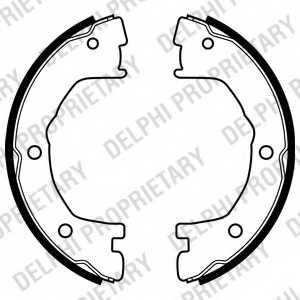 Комплект колодок стояночной тормозной системы DELPHI LS1919 - изображение
