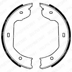 Комплект колодок стояночной тормозной системы DELPHI LS1920 - изображение