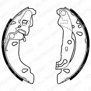 Комплект тормозных колодок для FORD FIESTA(JA#,JB#,JD#,JH#), KA(RB#) <b>DELPHI LS1926</b> - изображение