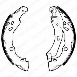 Комплект тормозных колодок для RENAULT CLIO(BB0/1/2#, CB0/1/2#, SB0/1/2#) <b>DELPHI LS1929</b> - изображение