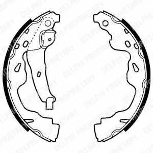 Комплект тормозных колодок DELPHI LS1961 - изображение