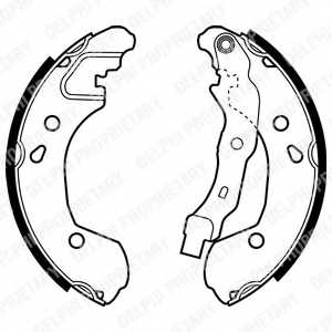 Комплект тормозных колодок DELPHI LS1965 - изображение