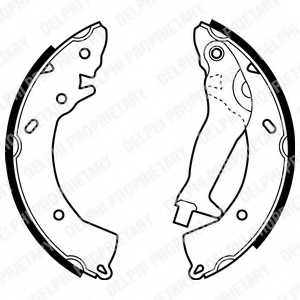Комплект тормозных колодок для HYUNDAI GETZ(TB) <b>DELPHI LS1966</b> - изображение