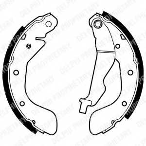 Комплект тормозных колодок для CHEVROLET AVEO(T250,T255), KALOS / DAEWOO KALOS(KLAS) <b>DELPHI LS1969</b> - изображение