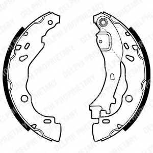 Комплект тормозных колодок для CITROEN C2(JM#), C3(FC#,HB#) / LANCIA YPSILON(843) / PEUGEOT 1007(KM#) <b>DELPHI LS1975</b> - изображение