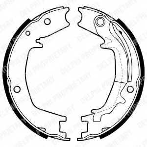 Комплект колодок стояночной тормозной системы DELPHI LS1985 - изображение