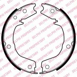 Комплект колодок стояночной тормозной системы DELPHI LS2007 - изображение