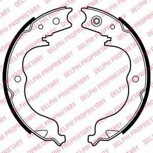 Комплект колодок стояночной тормозной системы DELPHI LS2008 - изображение