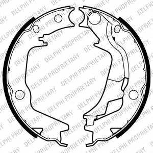 Комплект колодок стояночной тормозной системы DELPHI LS2011 - изображение