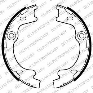 Комплект колодок стояночной тормозной системы DELPHI LS2012 - изображение