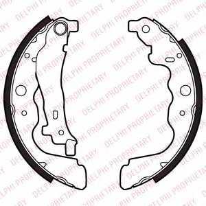 Комплект тормозных колодок для MERCEDES CITAN Mixto(415), CITAN(415) / RENAULT CAPTUR <b>DELPHI LS2022</b> - изображение