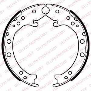 Комплект колодок стояночной тормозной системы DELPHI LS2034 - изображение