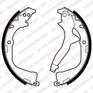 Комплект колодок стояночной тормозной системы DELPHI LS2056 - изображение