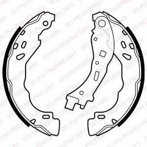 Комплект тормозных колодок для CITROEN C-ELYSEE, C3, DS3 / MITSUBISHI L 300(L0#2P,LO3#P/G) / PEUGEOT 208, 301 <b>DELPHI LS2065</b> - изображение