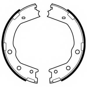 Комплект колодок стояночной тормозной системы DELPHI LS2067 - изображение