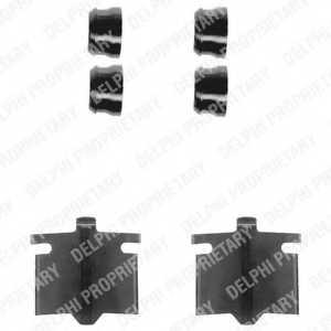 Комплектующие колодок дискового тормоза DELPHI LX0082 - изображение