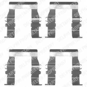 Комплектующие колодок дискового тормоза DELPHI LX0171 - изображение