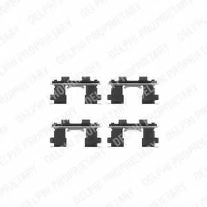 Комплектующие колодок дискового тормоза DELPHI LX0252 - изображение