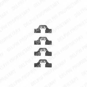 Комплектующие колодок дискового тормоза DELPHI LX0307 - изображение