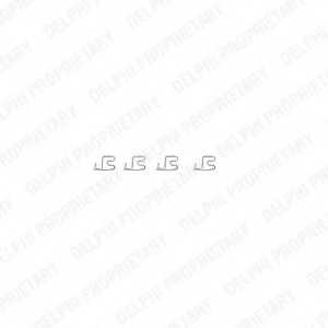 Комплектующие колодок дискового тормоза DELPHI LX0314 - изображение
