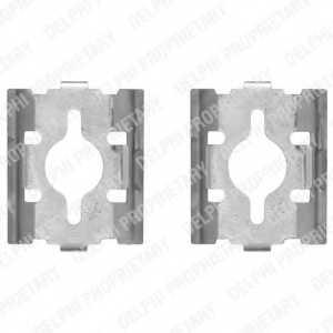 Комплектующие колодок дискового тормоза DELPHI LX0328 - изображение