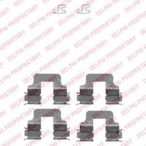 Комплектующие колодок дискового тормоза DELPHI LX0342 - изображение