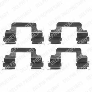 Комплектующие колодок дискового тормоза DELPHI LX0383 - изображение