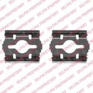 Комплектующие колодок дискового тормоза DELPHI LX0409 - изображение