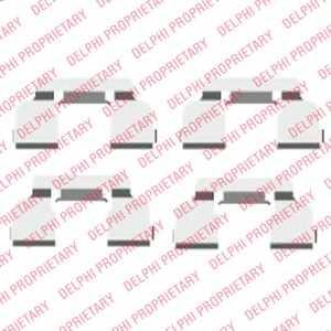 Комплектующие колодок дискового тормоза DELPHI LX0410 - изображение