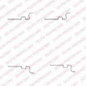 Комплектующие колодок дискового тормоза DELPHI LX0435 - изображение
