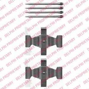 Комплектующие колодок дискового тормоза DELPHI LX0464 - изображение