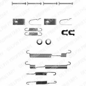 Комплектующие тормозной колодки DELPHI LY1056 - изображение