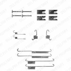 Комплектующие тормозной колодки DELPHI LY1140 - изображение