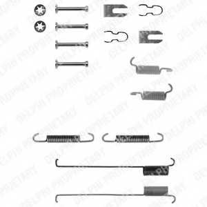 Комплектующие тормозной колодки DELPHI LY1214 - изображение