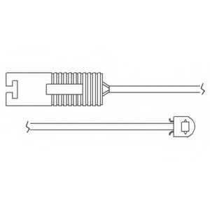 Контрольный контакт износа тормозных колодок DELPHI LZ0119 - изображение