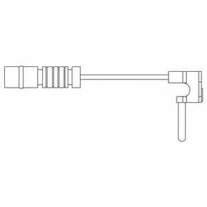 Контрольный контакт износа тормозных колодок DELPHI LZ0120 - изображение