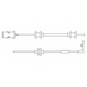 Контрольный контакт износа тормозных колодок DELPHI LZ0152 - изображение